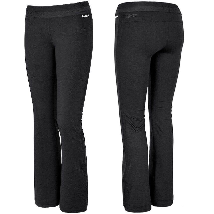 Reebok Damen Fitness Trainingshose Sport Hose Laufhose Leggings Crossfit schwarz