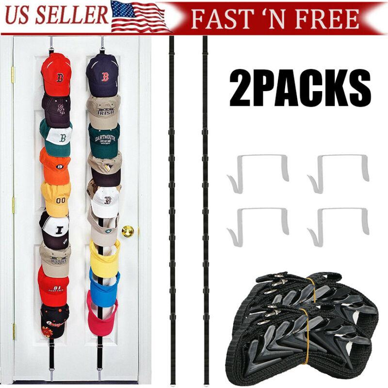 2PACKS Baseball Cap Hat Holder Rack Storage Organizer Over the Door Hangers