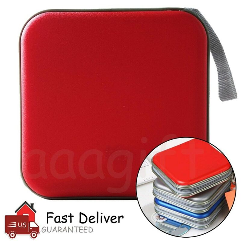 40 Disc CD DVD Organizer Holder Storage Case Hard Album Box Portable US Seller