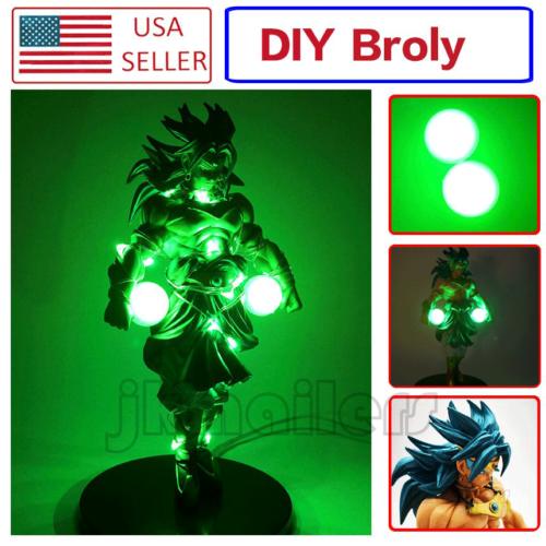 Anime Dragon Ball Z Blue Super Saiyan Broly//Broli Action Figure /& DIY LED Lamps