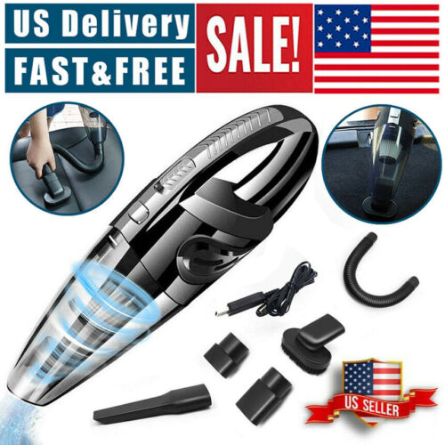Cordless Car Vacuum Cleaner Rechargeable Wet/Dry HEPA Handhe