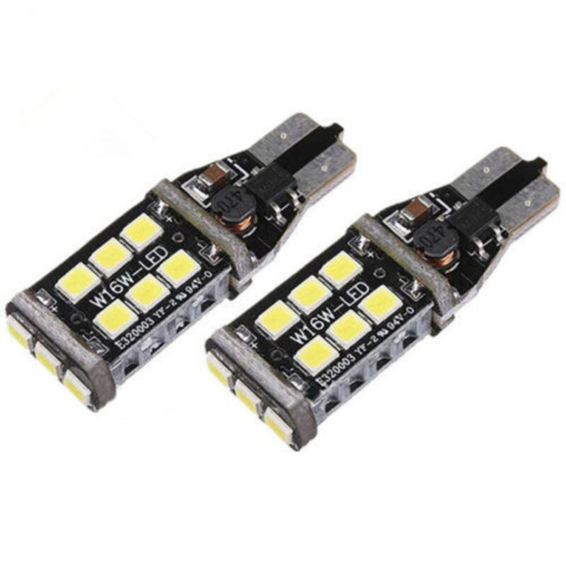 2 x T15 W16W 2835 LED SMD REVERSE Bulbs LIGHTS White BMW 5 Series F11 Estate GR