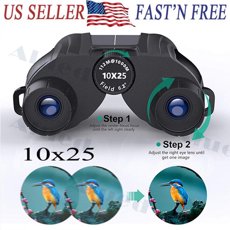 10x25 Compact Binoculars for Adults Kids Light weight High Powered Binoculars