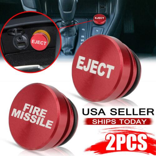 2PCS Car Cigarette Lighter Cover Accessories Universal Fire Missile Eject Button Car & Truck Parts