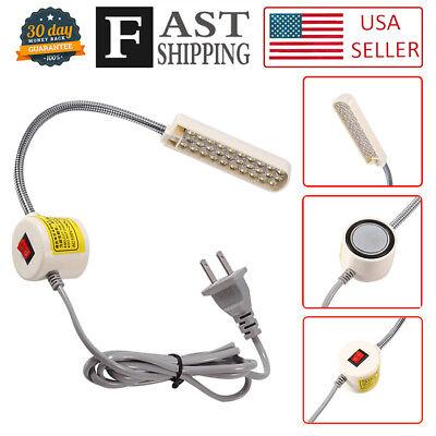 Machine Magnet - 30 LED Sewing Machine Light  US PLUG Gooseneck Working Lamp With Magnetic Base