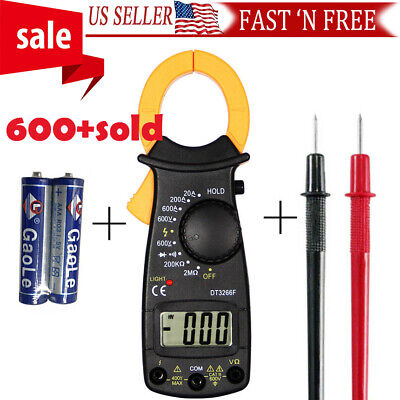 Digital Clamp Meter Tester Ac Volt Amp Multimeter Current Resistance Tester