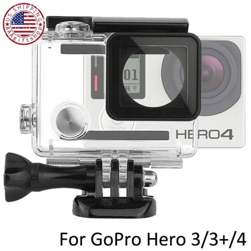 For GoPro Hero 3 3+ 4  Waterproof Housing Case Protective Shell Cover Underwater