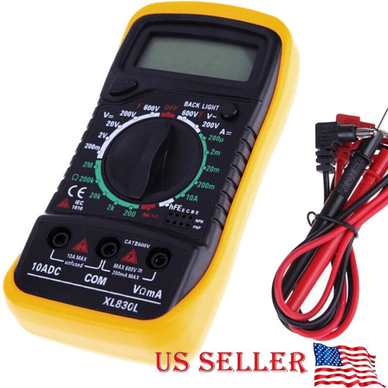 Digital Multimeter XL-830L LCD Voltmeter Ammeter Ohmmeter OHM VOLT Tester