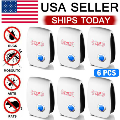 6pcs ultrasonic pest reject home control electronic