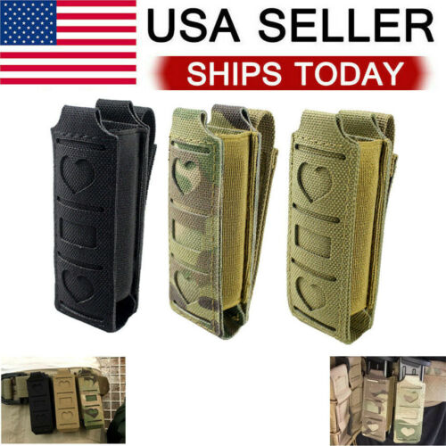 Tactical Molle Single Magazine Pouch Pistol Mag Pouch Waist Belt Holster Pouch Holsters, Belts & Pouches