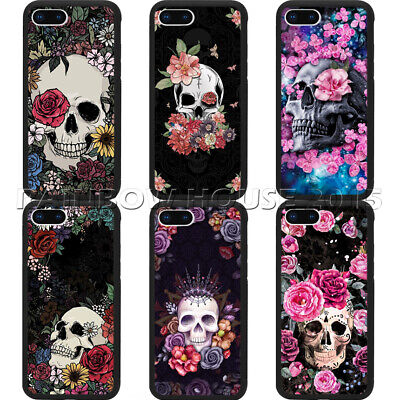 Day Of The Dead Sugar Skull Girl Rose Tattoo For iPhone & Samsung S10E+ XS Cover (Day Of Dead Girl Tattoo)
