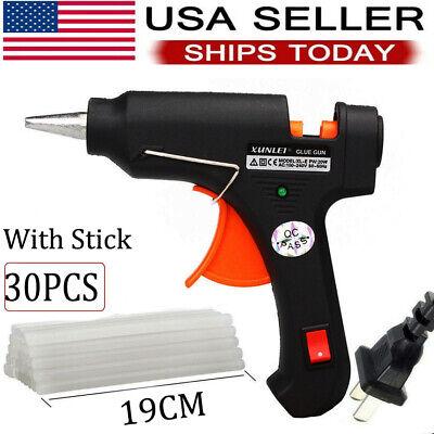 Glue Gun Crafts (GLUE GUN Melt Bonus 30 glue STICKS DIY Repair Tool Kit Art Crafts Design)