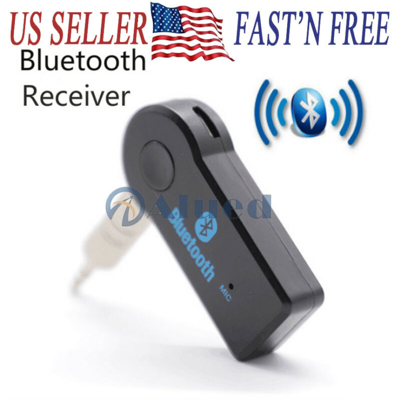 Wireless Bluetooth Receiver 3.5mm Aux Stereo Audio Music Car Adapter Transmitter