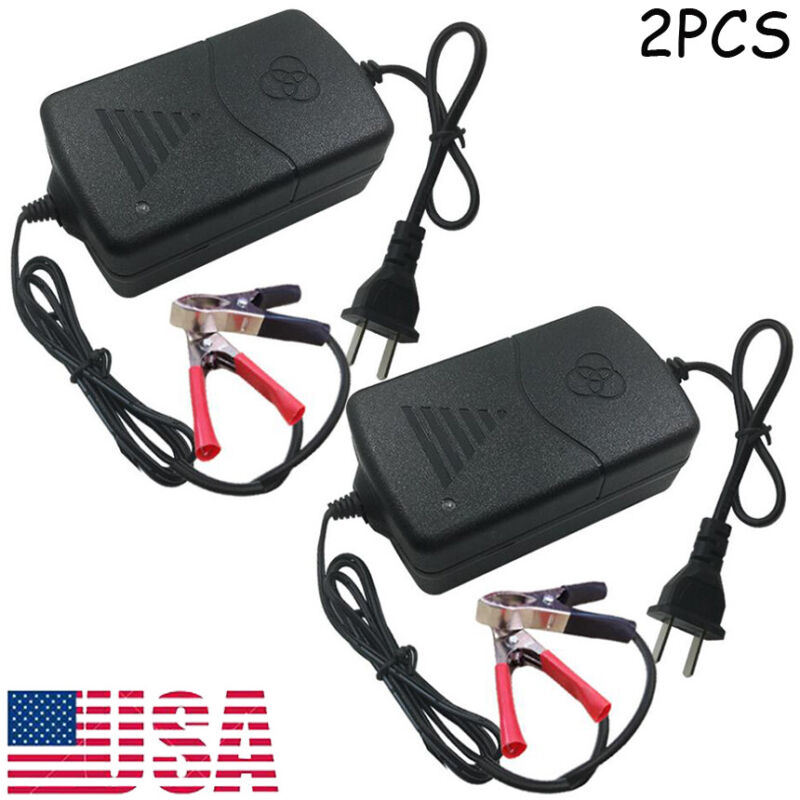 2PCS Car Battery Charger Maintainer 12V Trickle RV for Truck Motorcycle ATV Auto