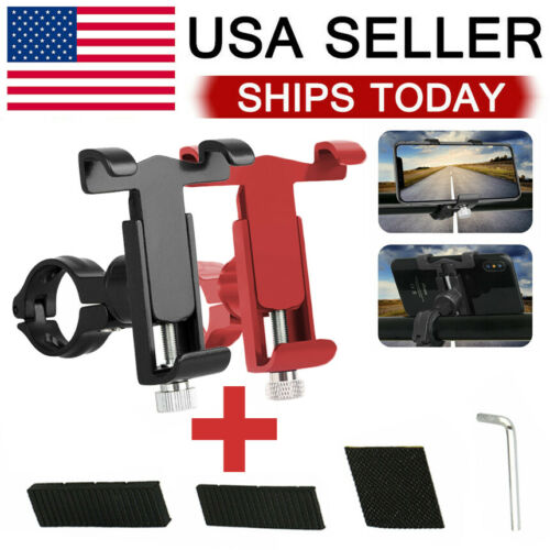 Universal Bike Motorcycle Cell Phone Mount Aluminum Alloy Handlebar Holder Cell Phone Accessories