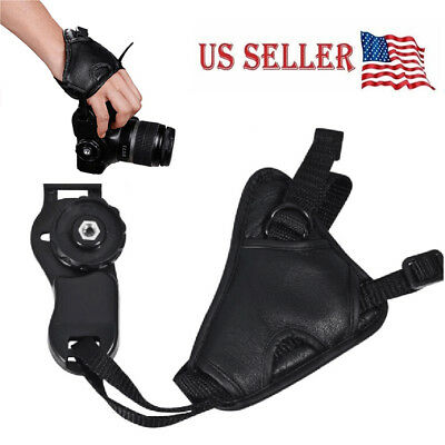Canon Hand Strap - Cameras Leather Hand Grip Wrist Strap for Canon Nikon Sony Olympus DSLR Padded