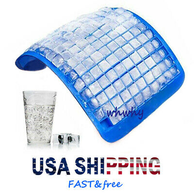 160 Silicone Grids Small Ice Cube Tray Ice Mold Kitchen Tool For  Whiskey -