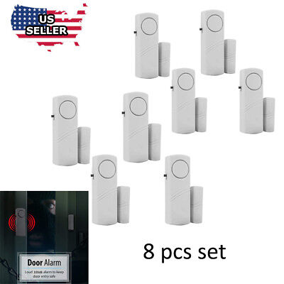 8 Home Safety Burglar Alarm Wireless System Security Device Door Window  Sensor