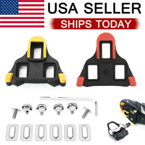 For Shimano SM-SH10/11 Cleat Set Float SPD-SL 0/2/6° Road Bike Pedal Cleats USA Bicycle Components & Parts