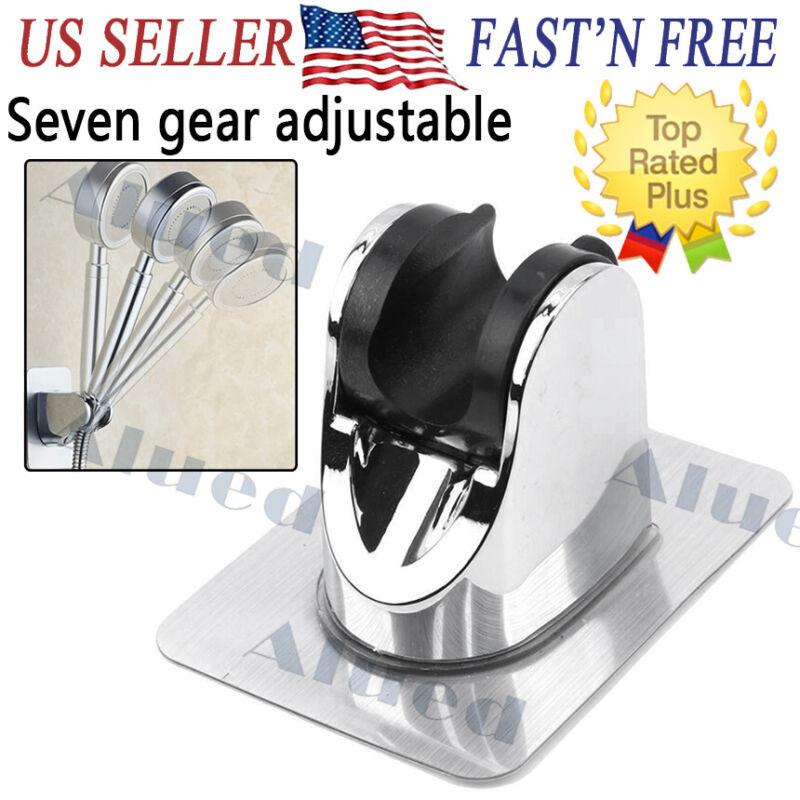 Bathroom shower head holder adjust no drilling bracket mount 7 gear adjustable