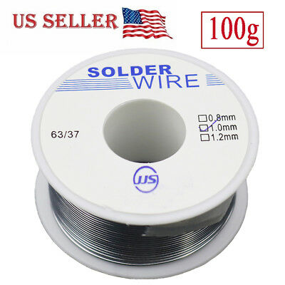 6337 1 Mm Tin Lead Rosin Core Flux Solder Wire For Electrical Solderding 100g