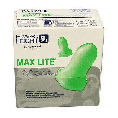 Lpf-1 Howard Leight Max Lite Ear Plugs 200 Pairbox Nrr30 Free Us Shipping