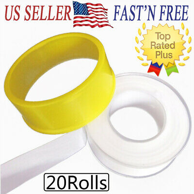20rolls Teflon Plumbing Fitting Thread Seal Tape Ptfe For Water Pipe Plumbers H