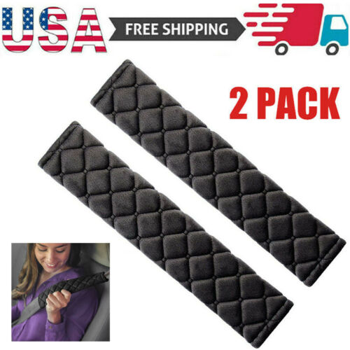 2Pcs Car Safety Seat Belt Shoulder Pad Cover Cushion Harness Comfortable Driving Car & Truck Parts