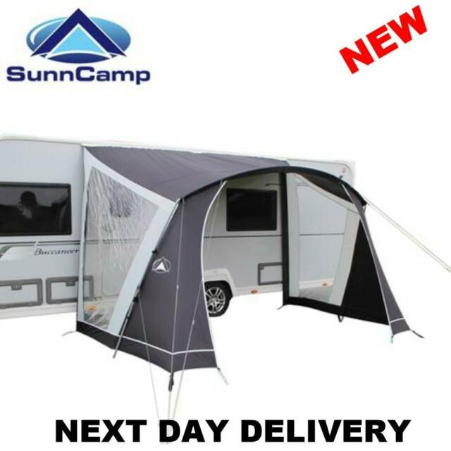 NEW 75D 2018 SUNNCAMP SWIFT 260 CARAVAN SUN CANOPY AWNING OPEN PORCH FRONT  sc 1 st  eBay & Lightweight Simple SunnCamp Swift 260 Caravan Door Sun Canopy | eBay
