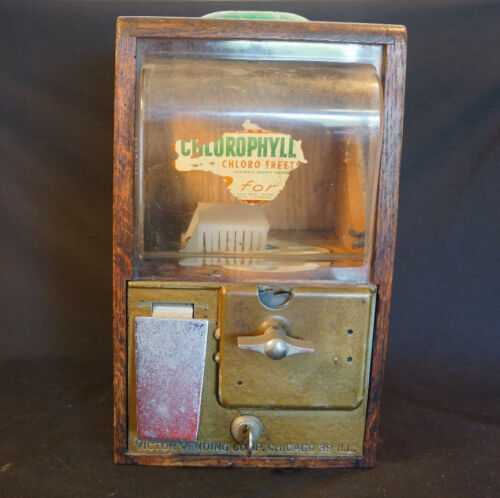 Old Vtg Baby Grand Chlorophyll Gum Gumball Peanut Penny 1 Cent Machine Candy