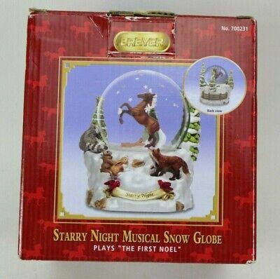 Breyer Horse 2011 Starry Night Christmas Musical Snow Globe The First Noel