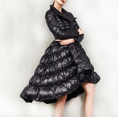 Women A-line Swing Coat Puffer Down Outwear Jacket Slim Fit Winter Warm Occident
