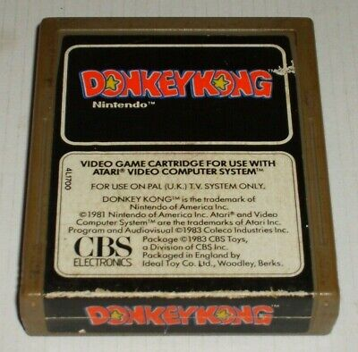 DONKEY KONG BY CBS FOR THE ATARI 2600 CARTRIDGE ONLY TESTED WORKING