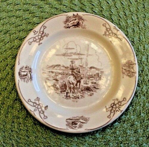 """Vintage Shenango 7"""" Cowboy Plate"""
