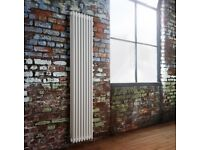 Designer vertical Traditional column radiator 3 Columns 36 x 180cm Two Available