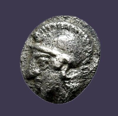 Archaios | Greek Aeolis Elaia Athena / Wreath Hemiobol | Silver | (Greek Wreath)