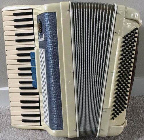Blue Scandalli Dry Tuning Accordion, Excellent Condition
