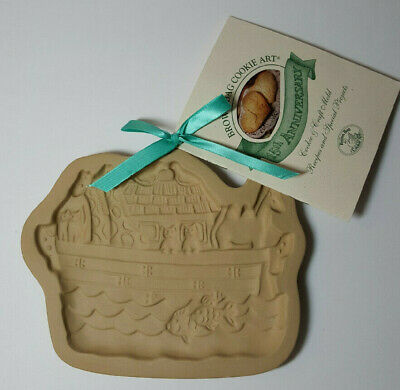 1996 Brown Bag Cookie Art Mold Noah's Ark Hill Design VTG 15th Anniversary Book