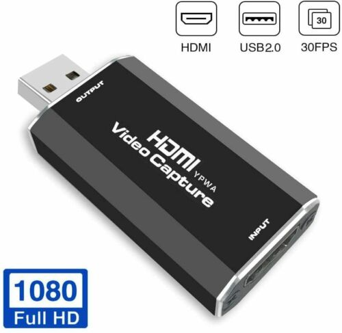 Audio Video Capture Cards, HDMI to USB 1080p USB2.0 Live Broadcasting