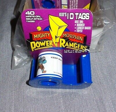 Mighty Morphin Power Rangers Name badge ID Tags (Toys,Halloween prop) Set Bundle