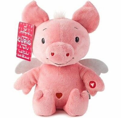 "Hallmark ""Cupig"" Plush Valentine Pig ~ Plays ""Cupig Shuffle"""
