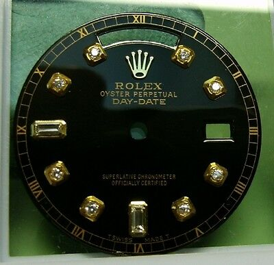 BRILLANT ZIFFERBLATT ROLEX DAY DATE SCHWARZ DIAMANT ZIFFERBLATT