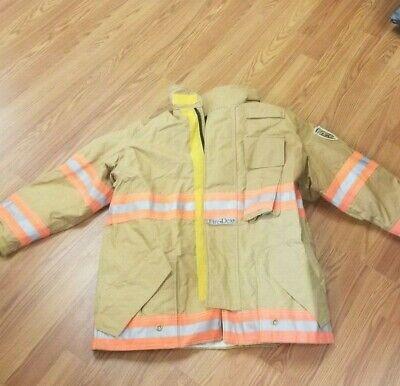 Fire Dex Brown Firefighter Turnout Jacket Turn Out Gear Sz 44