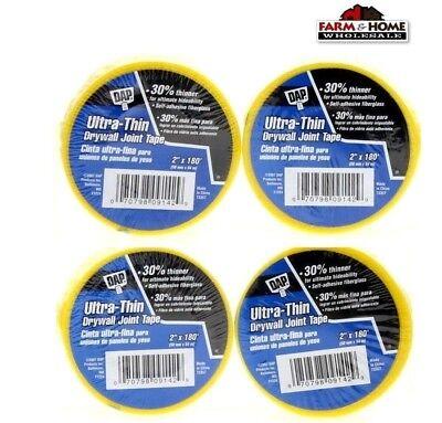 4 Rolls Drywall Joint Repair Tape Mesh Self Adhesive Fiberglass New