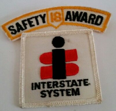 Embroidered Patch Interstate System Safety Award 18 Years