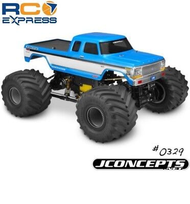 JConcepts 1979 Ford F-250 SuperCab Monster Truck Body (Clear) -