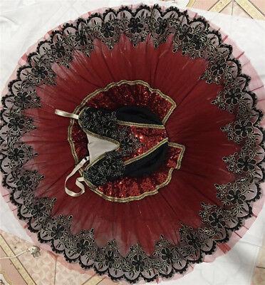 Don Cherry Costume (Adult Professional Ballet Tutu Skirt Dance Dress Don Quixote Ballet Costume)