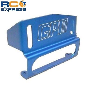 GPM Racing Monster Gt Blue Aluminum Fuel Tank Guard AGM1089 Blue Aluminum Fuel Tank Guard