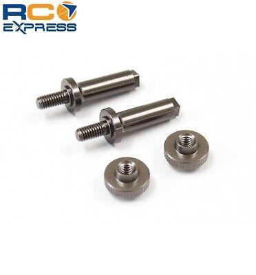 (Kyosho Aluminum Battery Post Set (Gunmetal/RB6) KYOUMW728)