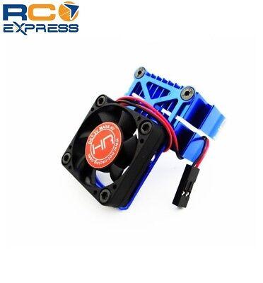 Hot Racing Clip-On Two-Piece Motor Heat Sink W/ Fan (Blue) -